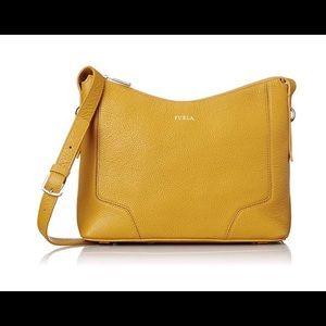 Furla Perla Girasole Yellow Leather Crossbody Bag